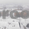 Kyle Bursaw – kbursaw@daily-chronicle.com<br /> <br /> Visibility was limited Tuesday, as seen in this view from the 14th floor of the Holmes Student Center.