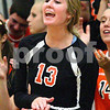 Kyle Bursaw – kbursaw@shawmedia.com<br /> <br /> DeKalb's Courtney Bemis cheers from the bench on Tuesday, Sept. 13, 2011.