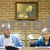 Rob Winner – rwinner@daily-chronicle.com<br /> <br /> Ed and Jane Heyer of Hinckley listen to Pam Kitterman, a registered nurse of DeKalb County Hospice, as Kitterman gives a presentation about planning for death at the United Church of Sandwich on Tuesday, March 15, 2011.