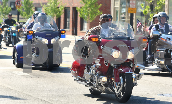 Kyle Bursaw – kbursaw@daily-chronicle.com<br /> <br /> Motorcycles lead off the parade in DeKalb, Ill. on Monday, May 30, 2011.