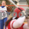 Kyle Bursaw – kbursaw@daily-chronicle.com<br /> <br /> Genoa-Kingston's Liz Brown pitches to an Ottawa batter in the first inning in Genoa, Ill. on Wednesday, April 6, 2011.