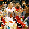 Rob Winner – rwinner@daily-chronicle.com<br /> <br /> DeKalb guard Kyle Berg (left) looks to score while Yorkville's Jordan Jones provides pressure during the second quarter in DeKalb, Ill. on Friday, Jan. 14, 2011.