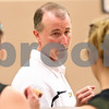 Kyle Bursaw – kbursaw@daily-chronicle.com<br /> <br /> Sycamore Girls Basketball coach Brett Goff talks to his players before a summer league game at the new DeKalb High School on Wednesday, July 6, 2011.