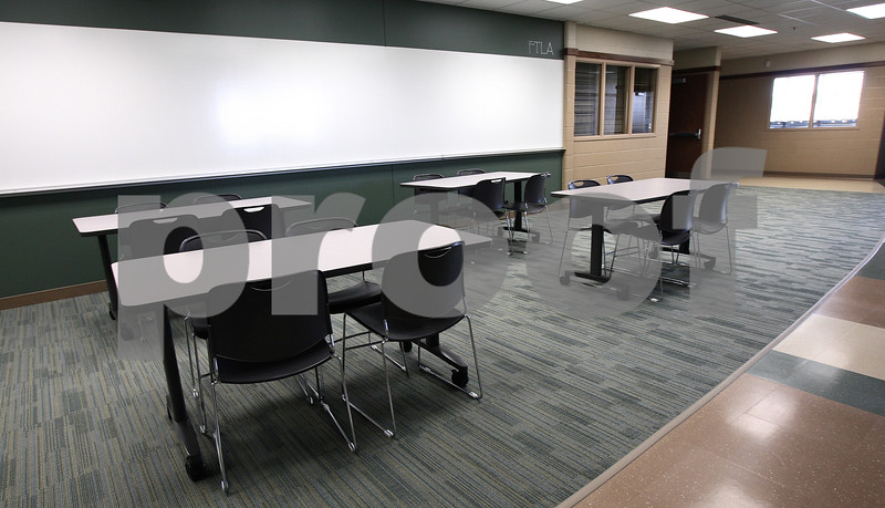 Kyle Bursaw – kbursaw@daily-chronicle.com<br /> <br /> One of the Flexible Teaching Learning Areas that can seat up to 16 students. Each sector of classrooms has two FTLAs that flank a double-sized classroom in the center.