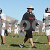 Rob Winner – rwinner@shawmedia.com<br /> <br /> DeKalb coach Marty Sanders directs his team during practice on Tuesday, Sept. 6, 2011.