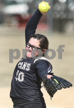 Kyle Bursaw – kbursaw@daily-chronicle.com<br /> <br /> Sycamore pitcher Abby Foulk winds up in the first game of a doubleheader against Newark in Sycamore, Ill. on Saturday, March 19, 2011.