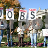 A group of about 70 people gathered on the lawn of the DeKalb County Courthouse in Sycamore Saturday to rally for jobs and other causes.<br /> <br /> By NICOLE WESKERNA - nweskerna@shawmedia.com