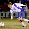 Rob Winner – rwinner@shawmedia.com<br /> <br /> Hinckley-Big Rock's Billy Weissinger controls a ball during the second half during a match in Hinckley, Ill., on Tuesday, Oct. 18, 2011.