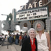 "Doug Oleson – doleson@shawmedia.com<br /> <br /> Filmmaker Susan Hope Engel (right), who made the ""Sycamore"" documentary, poses with Virginia Poust Wirsing, one of the Sycamore residents who was interviewed for the 45-minute document prior to a special premiere last night. The premiere kicks off the inaugural Sycamore Film Festival, which runs through this weekend."
