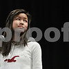"Rob Winner – rwinner@daily-chronicle.com<br /> <br /> Angelina Ye, 12, reacts after misspelling the word ""roodebok"" during the DeKalb County Spelling Bee on Saturday at Kishwaukee College. Ye ended the competition in second place."