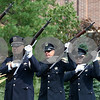 Kyle Bursaw – kbursaw@shawmedia.com<br /> <br /> A twenty-one gun salute is fired at the Sept. 11 memorial ceremony in the healing garden of Kishwaukee Community Hospital on Sunday, Sept. 11, 2011.