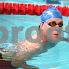 Kyle Bursaw – kbursaw@daily-chronicle.com<br /> <br /> Brad Waller watches the clock before starting to swim more laps at Kishwaukee YMCA in Sycamore, Ill. on Tuesday, April 12, 2011.