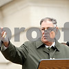 Rob Winner – rwinner@daily-chronicle.com<br /> <br /> Presiding Judge Kurt Klein addresses the crowd that gathered for Monday morning's DeKalb County Courthouse expansion ceremony in Sycamore, Ill.