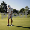 Wendy Kemp - For The Daily Chronicle<br /> Jon Nugent putts during practice at the Sycamore Golf Club on Thursday.<br /> Sycamore 8/11/11