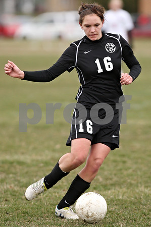 Rob Winner – rwinner@daily-chronicle.com<br /> <br /> Kaneland's Sam Wantuch (16) moves the ball during the first half on Monday, April 4, 2011, in Waterman, Ill. Kaneland defeated Indian Creek, 5-0.
