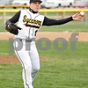 Rob Winner – rwinner@daily-chronicle.com<br /> <br /> Sycamore's Tommy Nice throws to first after fielding a ground ball to end the top of the third inning on Thursday, April 28, 2011, in Sycamore, Ill. Sycamore defeated Rochelle, 14-4, in five innings.