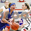Rob Winner – rwinner@daily-chronicle.com<br /> <br /> Genoa-Kingston's Rachel Ellstrom goes to the basket during the second quarter of the IHSA Class 2A Genoa-Kingston Regional on Tuesday, Feb. 8, 2011. Genoa-Kingston was defeated by Stillman Valley, 52-45.