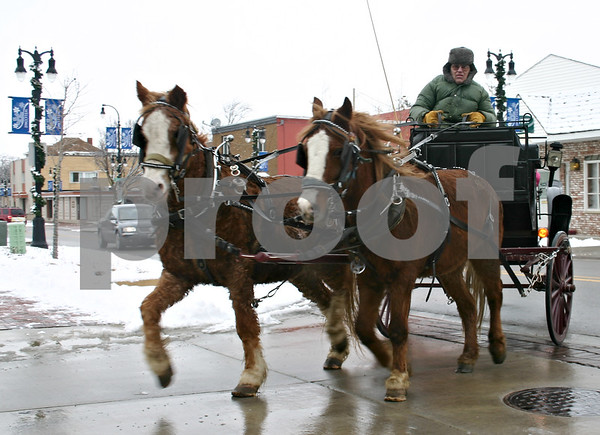 National Bank & Trust in DeKalb offered its final weekend of free horse-drawn carriage rides through the downtown area. <br /> <br /> By Nicole Weskerna - nweskerna@shawmedia.com