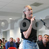 Rob Winner – rwinner@shawmedia.com<br /> <br /> DeKalb resident William Klein, speaks during Friday's hearing on toll at the Convocation Center in DeKalb. Klein, who commutes to O'Hare daily opposes the increase.