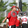 Rob Winner – rwinner@daily-chronicle.com<br /> <br /> Dave Doeren during practice on Friday, Aug. 5, 2011, in DeKalb, Ill.