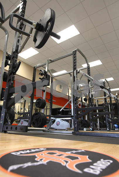 Kyle Bursaw – kbursaw@daily-chronicle.com<br /> <br /> DeKalb's new high school is outfitted with many new pieces of workout equipment.<br /> <br /> Friday, July 29, 2011.