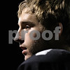 Rob Winner – rwinner@shawmedia.com<br /> <br /> Kaneland quarterback Drew David rests on the sideline while the Knights' defense takes the field during the second quarter in Maple Park on Friday, Oct. 28, 2011.