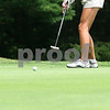 Kyle Bursaw – kbursaw@daily-chronicle.com<br /> <br /> Carly Hudon putts on the third hole at Sycamore golf course on Saturday, July 16, 2011. Hudon will compete in the IJGA-CDGA Junior tournament at Mill Creek on Wednesday.