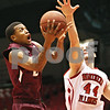 Rob Winner – rwinner@shawmedia.com<br /> <br /> Southern Illinois guard Diamond Taylor (left) goes to the basket as Northern Illinois forward Tyler Storm (44) defends during the first half in DeKalb, Ill., on Saturday, Dec. 17, 2011. SIU defeated NIU, 62-49.