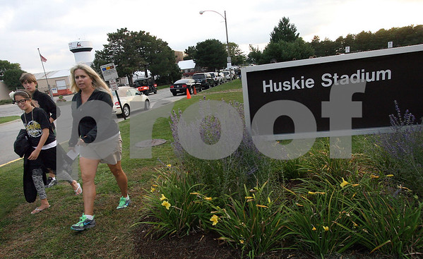 Wendy Kemp - For The Daily Chronicle<br /> Fans arrive at Huskie Stadium for Friday's game.<br /> DeKalb 9/9/11