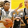 Rob Winner – rwinner@daily-chronicle.com<br /> <br /> Sycamore's Lake Kwaza goes to the basket during the third quarter on Thursday, Feb. 10, 2011 in Sycamore, Ill. Sycamore went on to defeat DeKalb, 34-30.