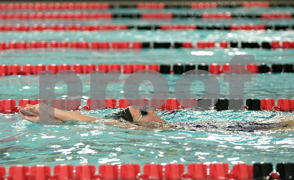 Rob Winner – rwinner@daily-chronicle.com<br /> <br /> Katie Hallenbeck, 18, of Plano, works out at the Kishwaukee YMCA on Thursday afternoon as the DeKalb County Swim Team prepares for the YMCA Nationals.