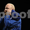 Rob Winner – rwinner@shawmedia.com<br /> <br /> Genoa-Kingston coach Travis Frederick reacts after an Cogs' offensive play for negative yards during the second quarter in Genoa, Ill. on Friday, Sept. 30, 2011.