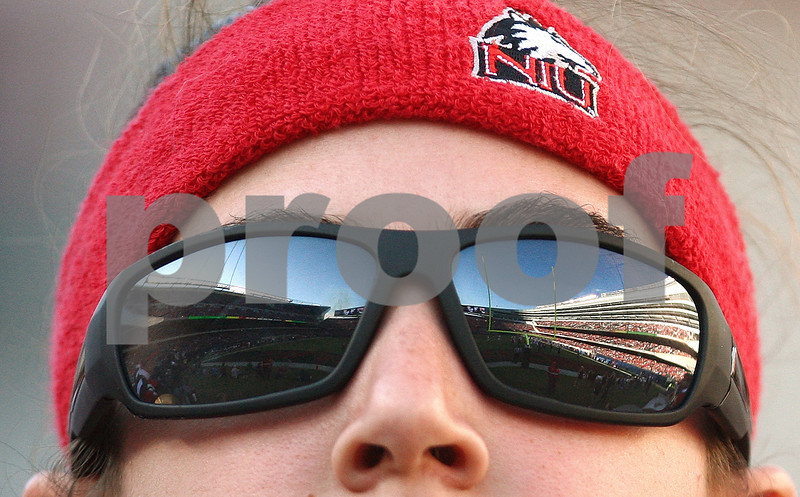 Kyle Bursaw – kbursaw@shawmedia.com<br /> <br /> Soldier Field is reflected in the sunglasses of member of the Northern Illinois marching band in Chicago, Ill. on Saturday, September 17, 2011. Wisconsin defeated Northern Illinois 49-7.