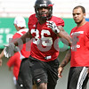 Rob Winner – rwinner@daily-chronicle.com<br /> <br /> Tyrone Clark during practice on Friday, Aug. 5, 2011, in DeKalb, Ill.