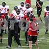 Kyle Bursaw – kbursaw@daily-chronicle.com<br /> <br /> NIU players get ready to do special teams drills during practice at Huskie Stadium on Saturday, April 2, 2011.