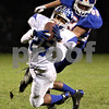 Rob Winner – rwinner@shawmedia.com<br /> <br /> Burlington Central's Damyan Vasquez (25) intercepts a pass intended for Genoa-Kingston's Calvin Beach during the first quarter in Genoa, Ill. on Friday, Sept. 30, 2011.