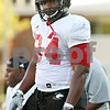 Rob Winner – rwinner@shawmedia.com<br /> <br /> Northern Illinois defensive tackle Donovan Gordon watches his teammates on the field during practice in DeKalb, Ill. on Tuesday, Oct. 4, 2011.