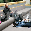 Rob Winner – rwinner@shawmedia.com<br /> <br /> Sophomores Cassie Owen (from left to right), Wawo Lambogo and Elaine Kepp relax between classes at Kishwaukee Community in Malta, Ill., on Monday, Sept. 19, 2011.