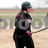 Rob Winner – rwinner@daily-chronicle.com<br /> <br /> Indian Creek's Samantha Bergstrand heads back to the dugout after striking out in the top of the first inning.