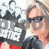Kyle Bursaw – kbursaw@daily-chronicle.com<br /> <br /> Jennifer Tomkins makes a statement for the others rallying and media on the 1700 block of east Lincoln Highway in DeKalb, Ill. on Friday, May 6, 2011