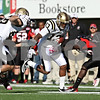 Rob Winner – rwinner@shawmedia.com<br /> <br /> Western Michigan wide receiver Chleb Ravenell (13) gets past Northern Illinois cornerback Jhony Faustin (28) for a 16-yard touchdown reception during the second quarter in DeKalb, Ill., on Saturday, Oct. 15, 2011. Northern Illinois defeated Western Michigan, 51-22.
