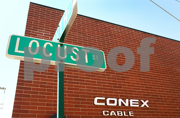 Kyle Bursaw – kbursaw@daily-chronicle.com<br /> <br /> Conex Cable at the intersection of Locust and Ninth streets on the afternoon of Friday, April 29, 2011.