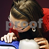 Rob Winner – rwinner@daily-chronicle.com<br /> <br /> DeKalb resident Becca Baird practices administering CPR with an infant manikin during a CPR class at Community Coordinated Child Care in DeKalb on Monday evening.