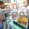 Kyle Bursaw – kbursaw@daily-chronicle.com<br /> <br /> A sign advertises deep fried Twinkies near the counter where customers order food at Riccardi's Red Hots & Soda Fountain in Sycamore, Ill. on Friday, May 13, 2011.