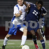 Rob Winner – rwinner@shawmedia.com<br /> <br /> Hinckley-Big Rock's Billy Weissinger (14) and Lisle's Kyle Collins battle for possession during the first half of a Class 1A Naperville Central Super Sectional on Tuesday, October 25, 2011.