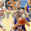 Rob Winner – rwinner@daily-chronicle.com<br /> <br /> Genoa-Kingston's Karlie Fisher puts up two during the third quarter of the IHSA Class 2A Genoa-Kingston Regional on Tuesday, Feb. 8, 2011. Genoa-Kingston was defeated by Stillman Valley, 52-45.