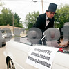 """Beck Diefenbach  -  bdiefenbach@daily-chronicle.com<br /> <br /> """"Abe"""" the huskie statue waits to be driven in the Kishwaukee Fest Kruise Night in DeKalb, Ill., on Friday July 30, 2010."""