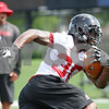 Rob Winner – rwinner@daily-chronicle.com<br /> <br /> Akeem Daniels during practice on Friday, Aug. 5, 2011, in DeKalb, Ill.
