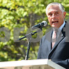 Kyle Bursaw – kbursaw@shawmedia.com<br /> <br /> State Rep. Robert Pritchard addresses those gathered at a Sept. 11 memorial ceremony at the healing garden of Kishwaukee Community Hospital in Sycamore, Ill. on Sunday, Sept. 11, 2011.