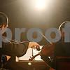 Rob Winner – rwinner@shawmedia.com<br /> <br /> Musicians Chuan-Yuan Wang (left) and Katelyn Kozinski rehearse with the Northern Illinois University Middle Eastern Music Ensemble on Tuesday, Nov. 15, 2011, at the School of Music in DeKalb.